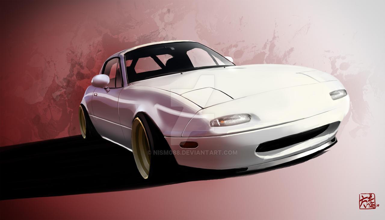 Miata with poppy art car livery isn t just for show autoevolution - Filename Miata_love_by_nism088 D2ptd42 Jpg