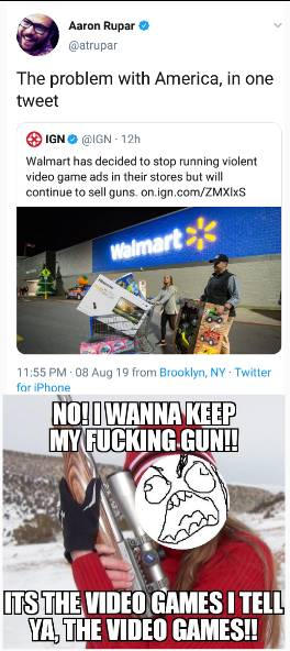 Guns? no! it's the video games