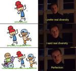Magneto prefer real diversity