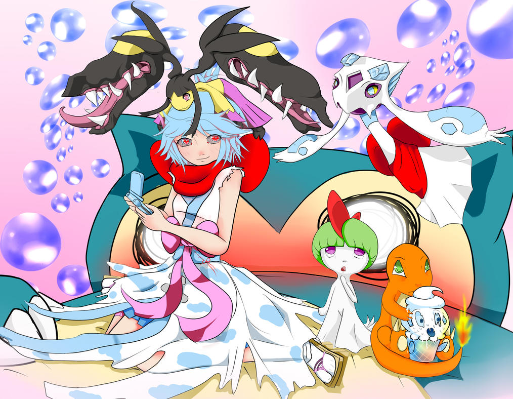 Neria playing pokemon.... by Spyro59