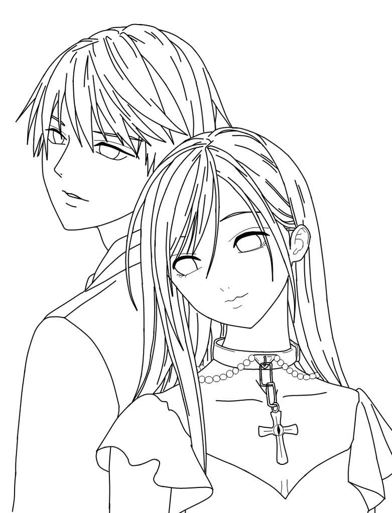 Moka and Tsukune by thesannintsunade on DeviantArt