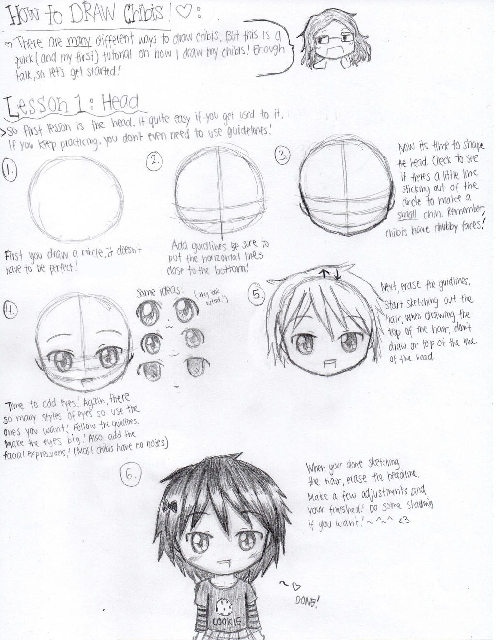 Chibi Head Drawing Tutorial By Emodetectiveespada Chibi Head Drawing  Tutorial By Emodetectiveespada