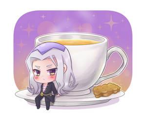 Abbacchio and Tea by detectiveee