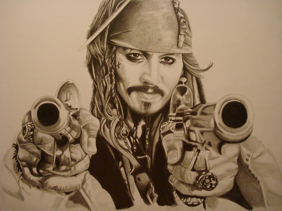 CAPTAIN JACK SPARROW by ARTIEFISHEL79