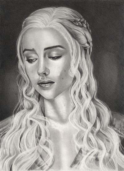 GAME OF THRONE ,Daenerys  Targaryen , by ARTIEFISHEL79