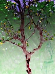 Fiery Tree by enderluv