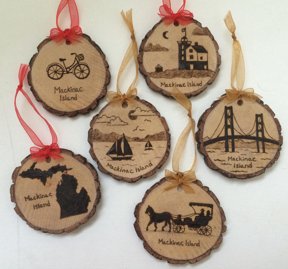 Christmas Decorations Store Vancouver: Mackinac Island Wood Burned Ornaments By Artofclaire On