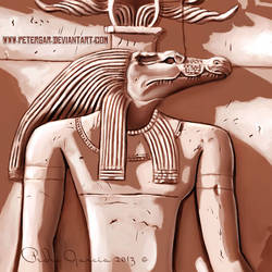SOBEC the Egyptian God of the Nile. by petergar