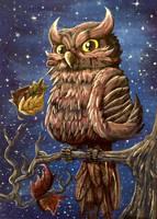 Owl by ThePaintedWalrus