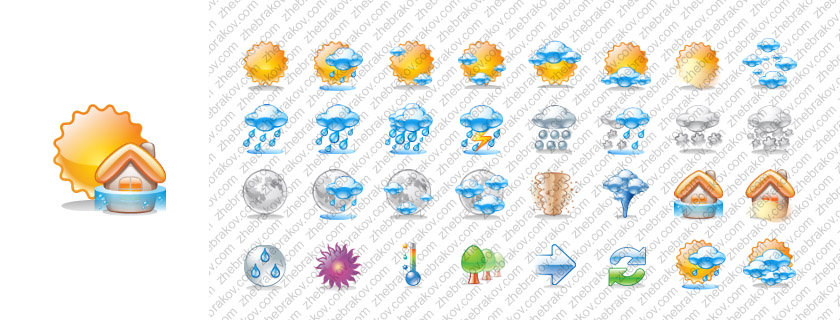 Weather vector icons by Andy3ds
