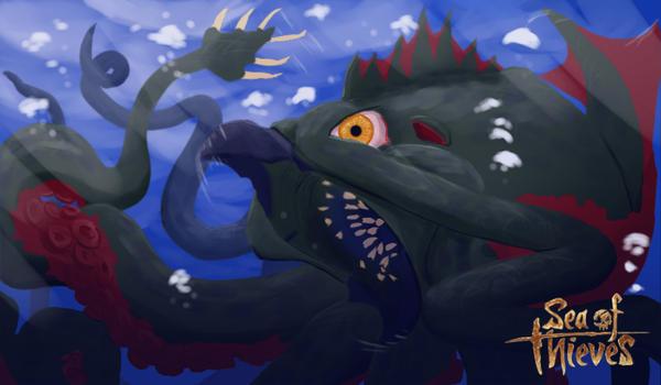 Kraken: Sea of Thieves (Version 2) by magicdragonmage