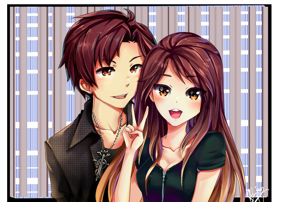 CM: Miki and her cute bf