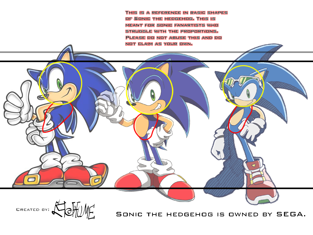 Sonic Diff Style Proportions by linkinparkathome