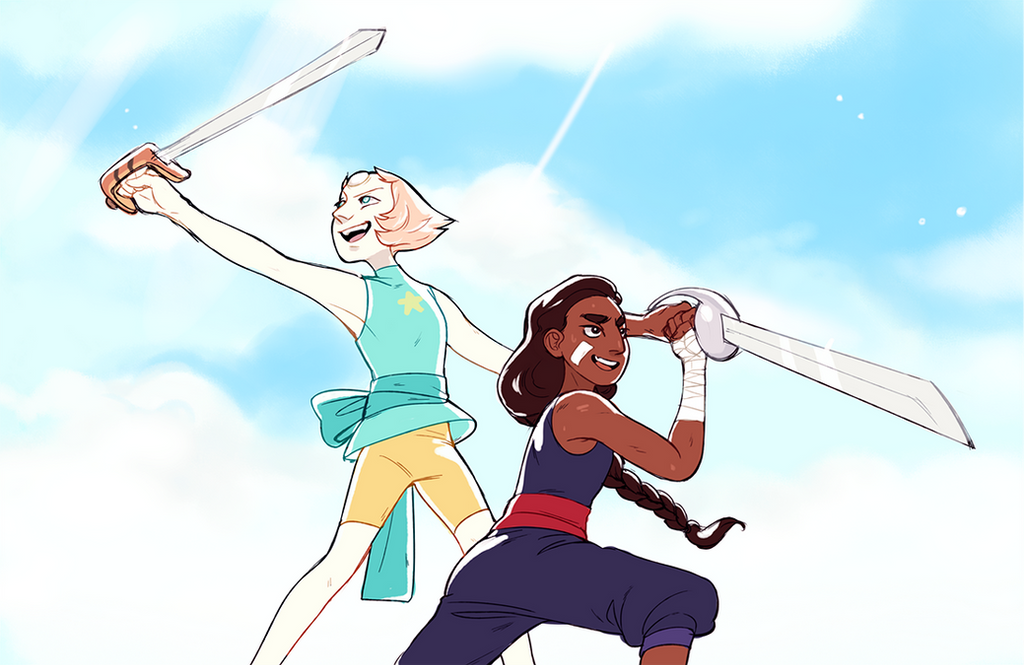lil redraw i did after the sword episode came out i love connie >:'0