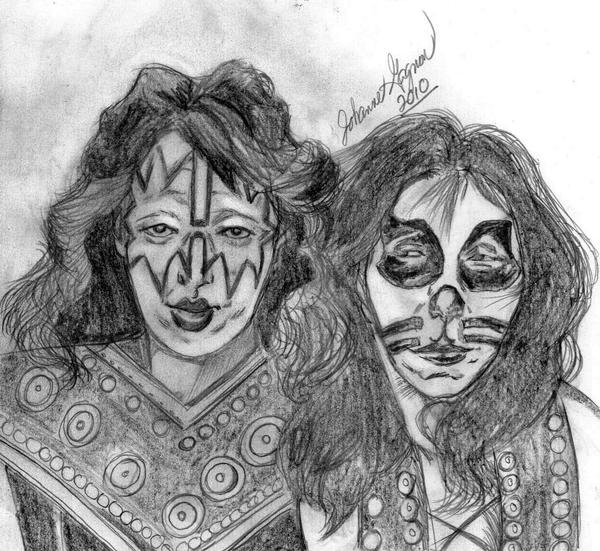 Ace Frehley and Peter Criss by NubianGoddess