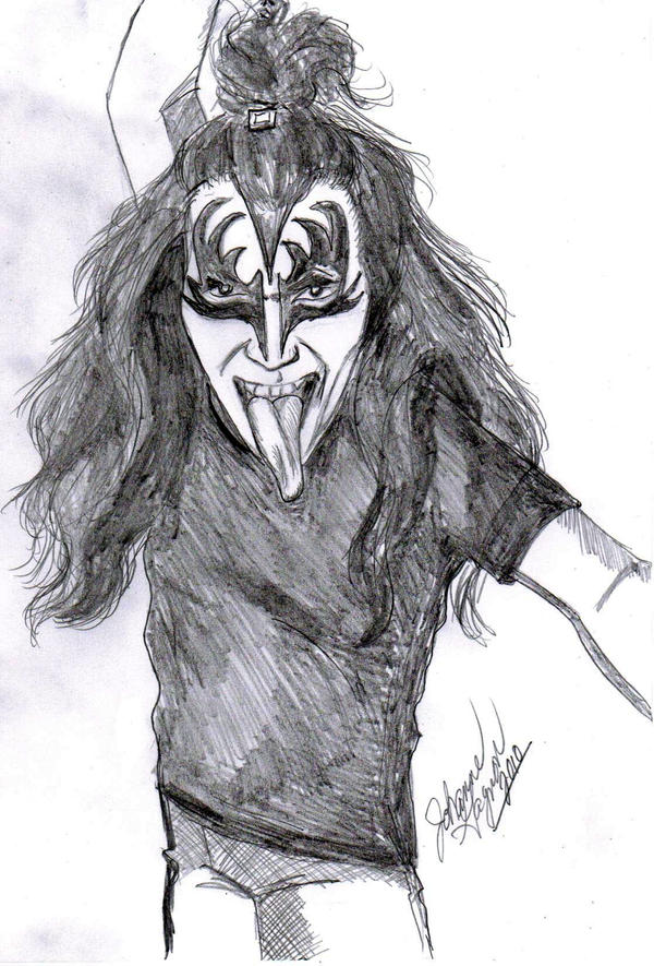 Gene  Simmons by NubianGoddess