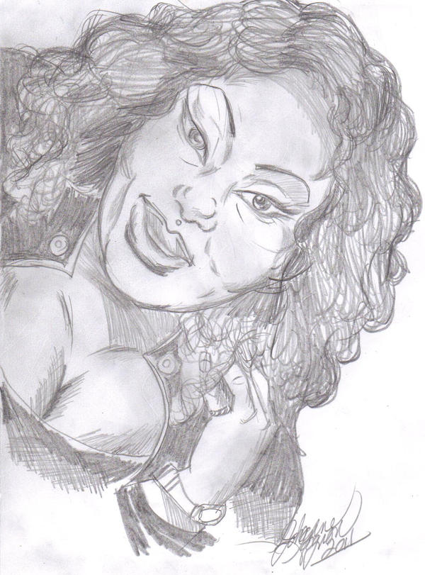 My Daughter Portrait by NubianGoddess