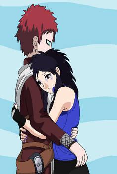 Tsugumi hugs Gaara