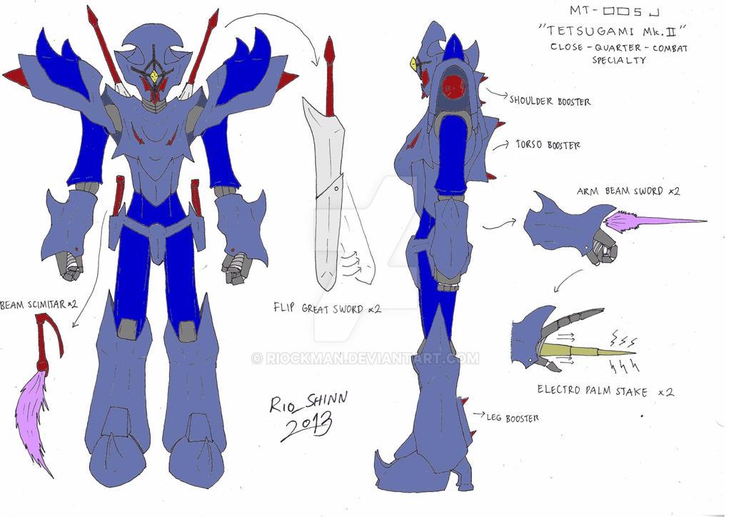 Sky Knight - Tetsugami Mk.II design by riockman