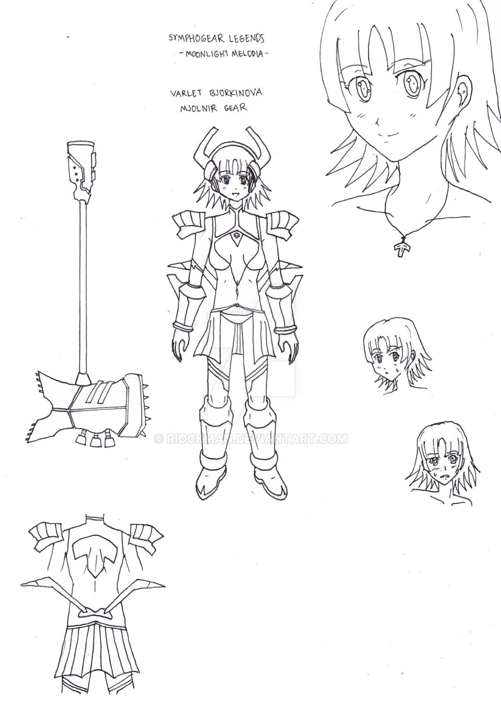 Symphogear Legends - Mjolnir Gear Rough Design by riockman