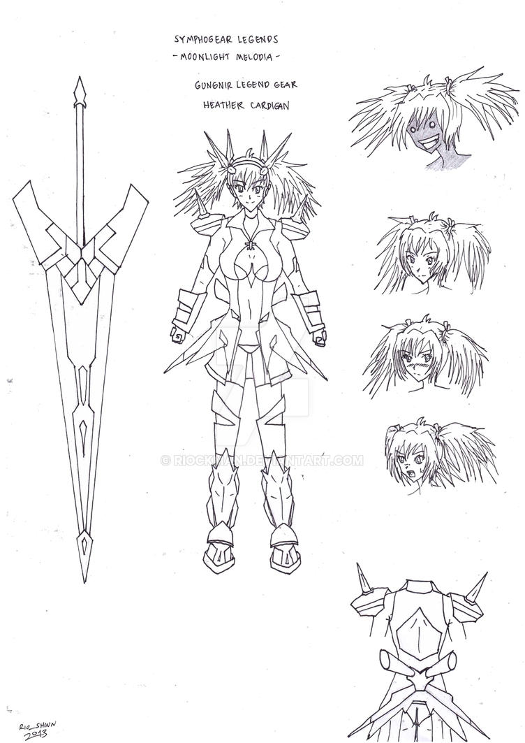 Symphogear Legends - Gungnir Legend Rough Design by riockman
