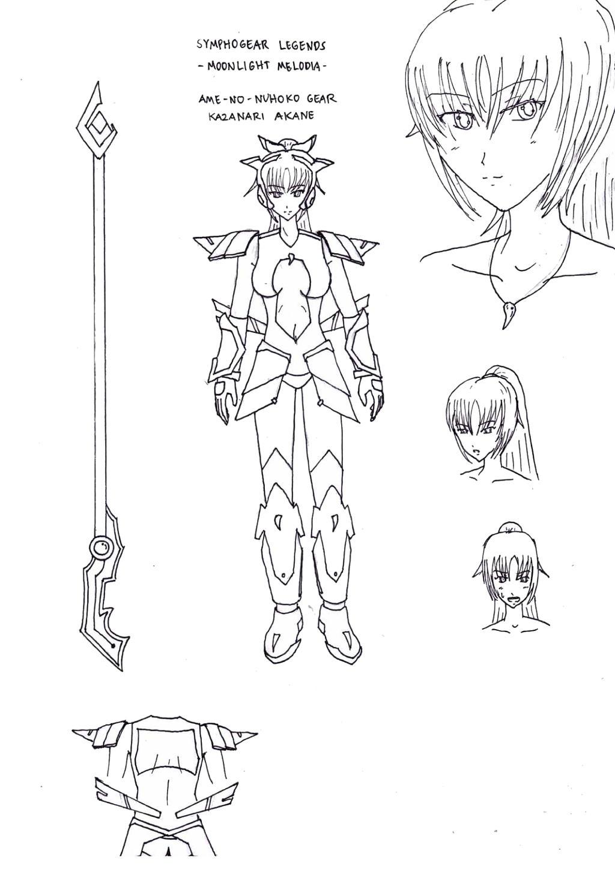 Symphogear Legends - Amenonuhoko Gear Rough Design by riockman