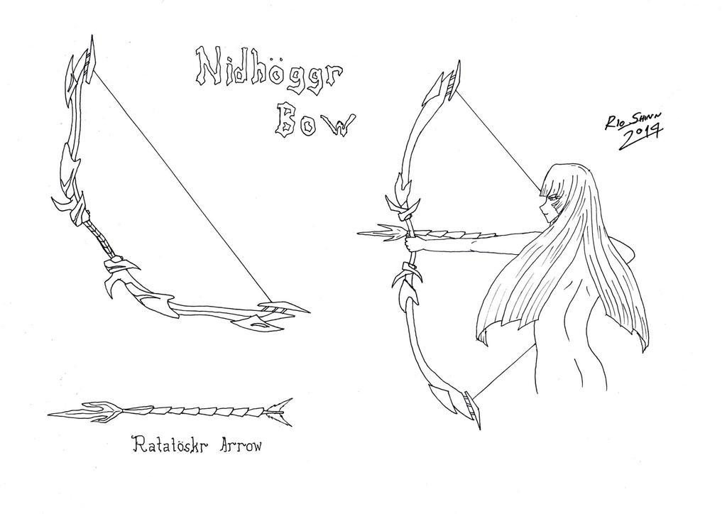 Mystletainn - Nidhoggr Bow by riockman