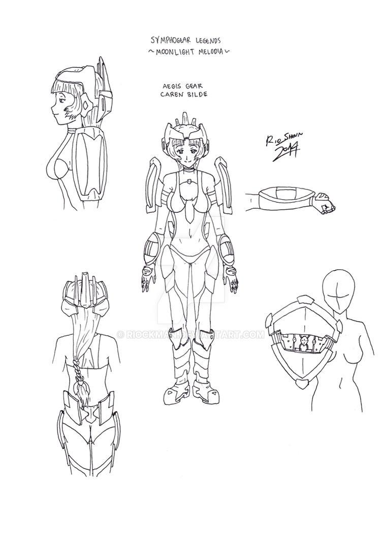 Symphogear Legends - Aegis Gear design by riockman