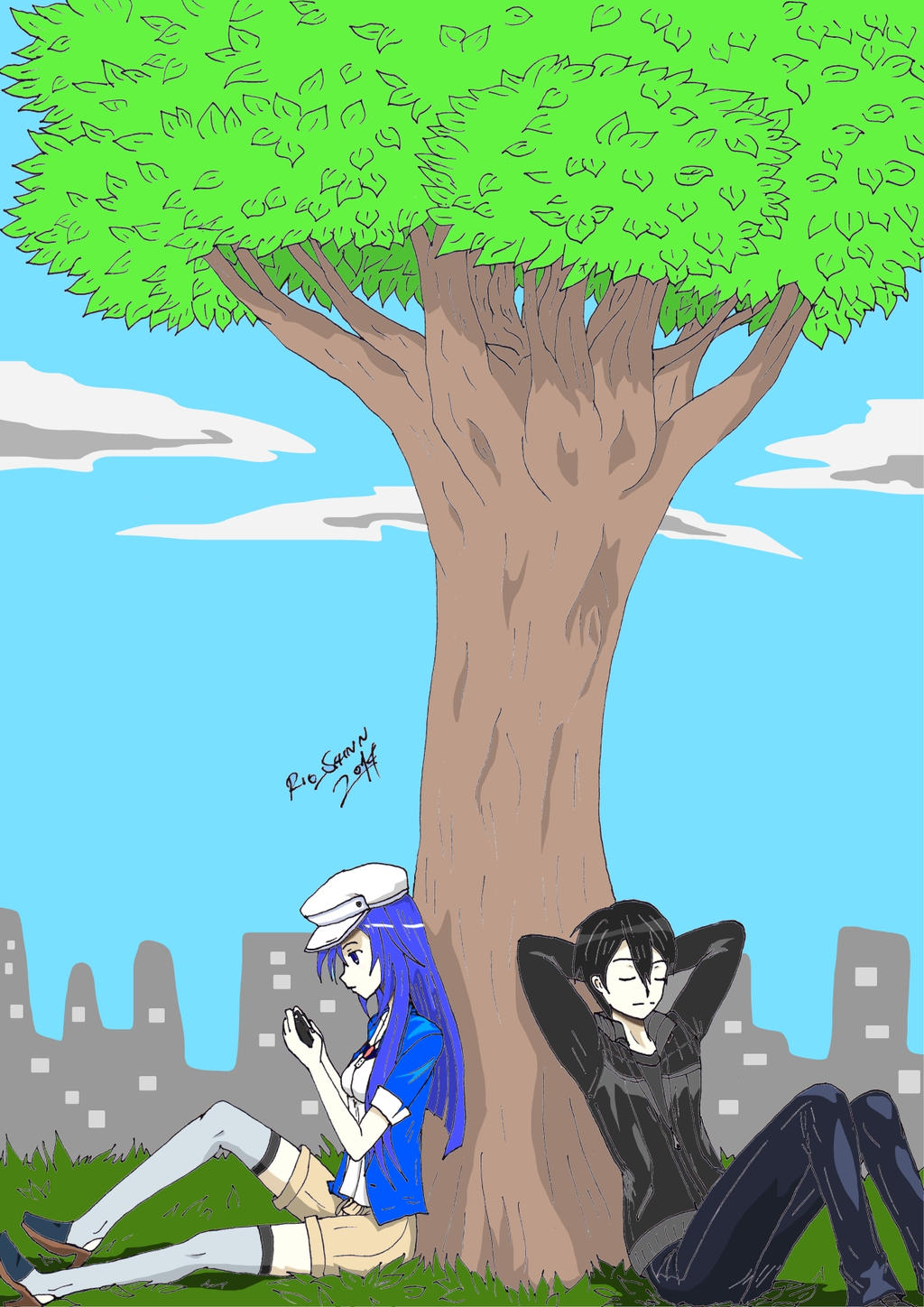 Together Under the Tree by riockman