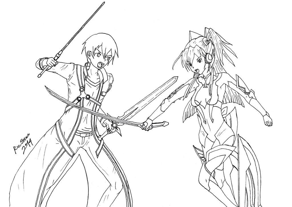 Tsubasa vs Kirito by riockman