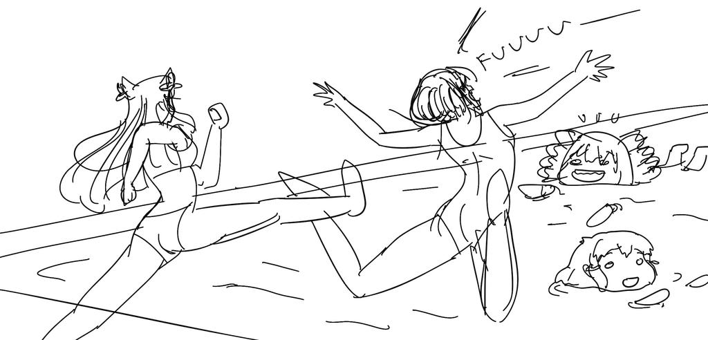This Is Swimming Pool! (rough sketch) by riockman