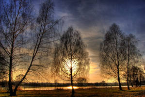 Early spring - sunset HDR by XanTyp