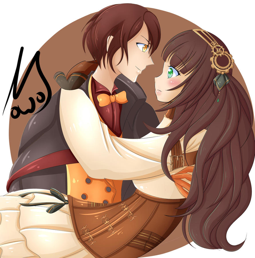Cardia and Lupin by andrinaandug