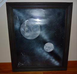 Two Moons - Framed