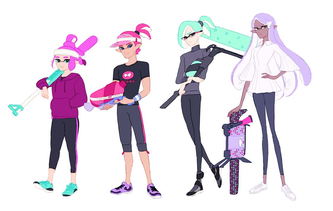 Squids squids squids by Sylvaur