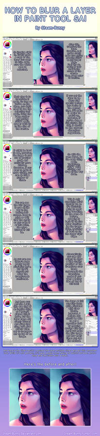 How to Blur Layers in Paint Tool SAI