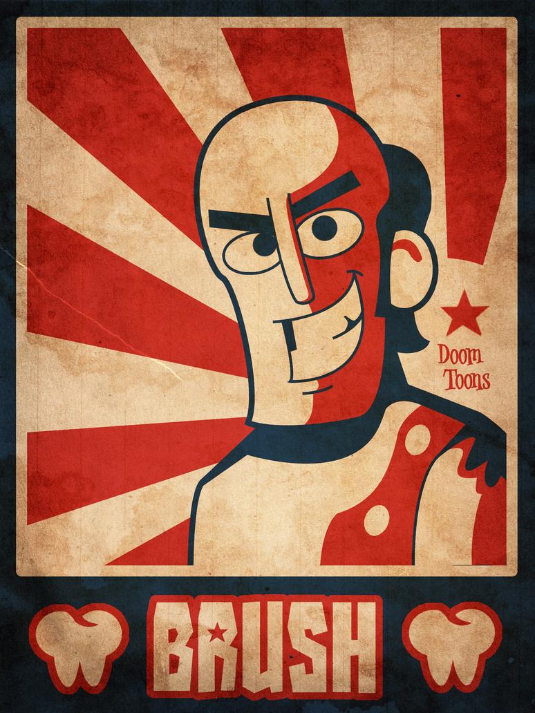 Brush Poster by MaxGraphix