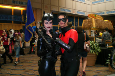Catwoman and Nightwing by AxelsPurpleRose