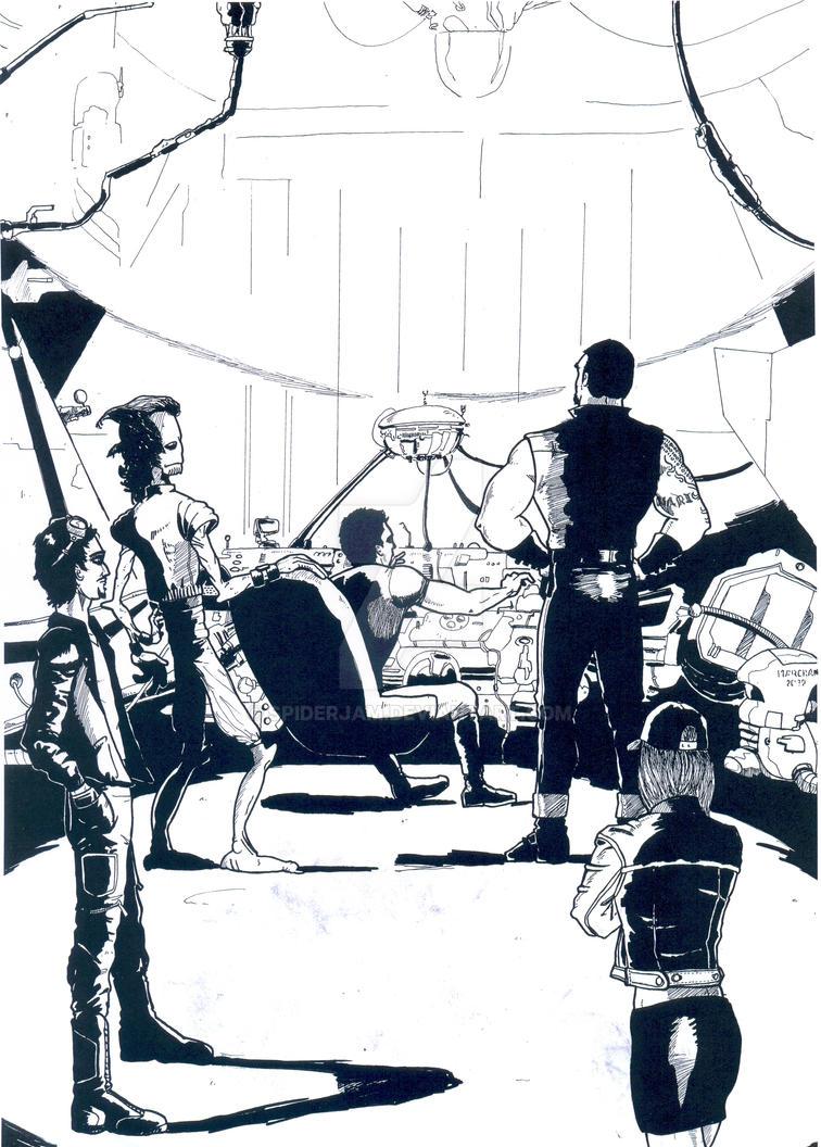 Entintado portada The Jammers 9 by Spiderjam