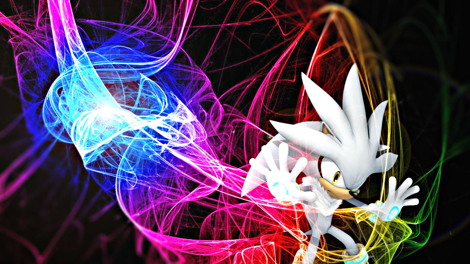 Neon Smoke Abstract Hd Wallpaper Silver Mode By