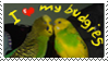 budgie stamp by wallabby