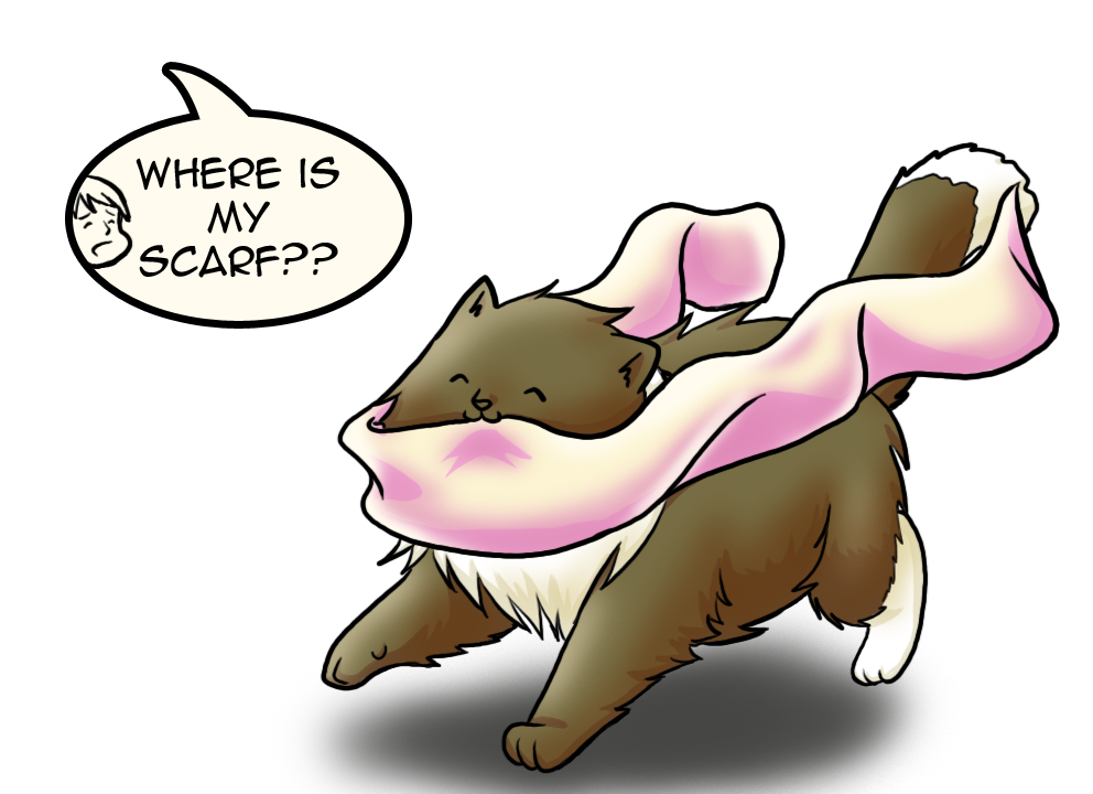 where is my scarf? by wallabby