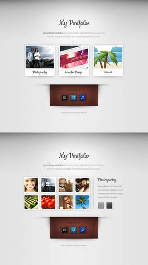 Super minimal portfolio theme