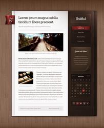 Blog theme design
