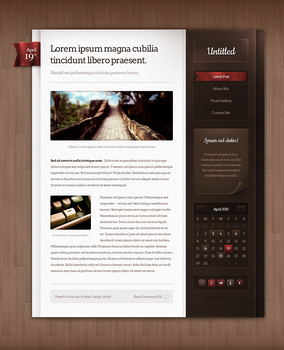 Blog theme design