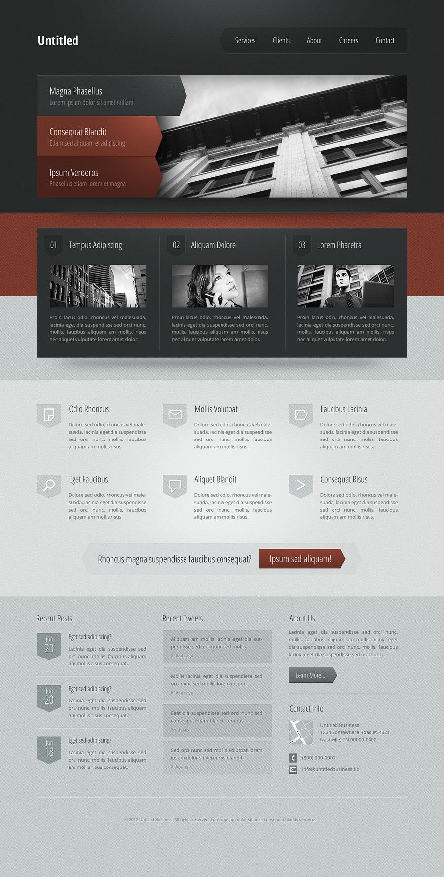 Dark business theme by nodethirtythree