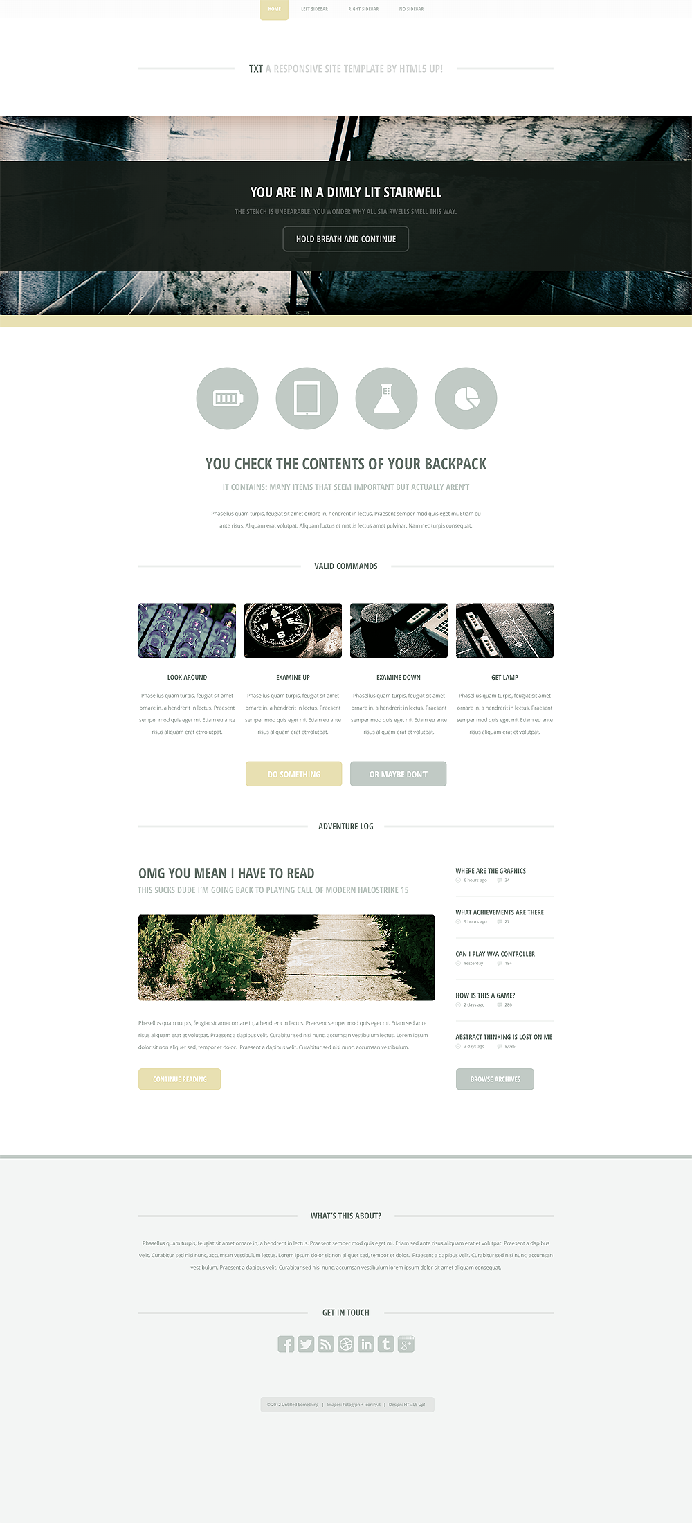 TXT, a responsive site template/theme by nodethirtythree