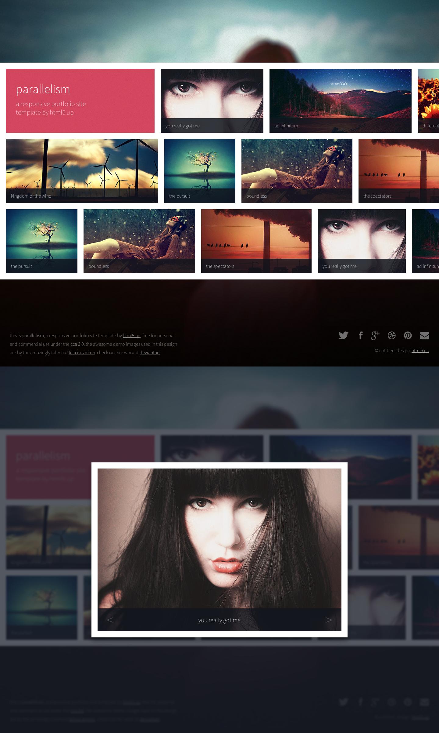 Parallelism - A Free Portfolio Site Template by nodethirtythree