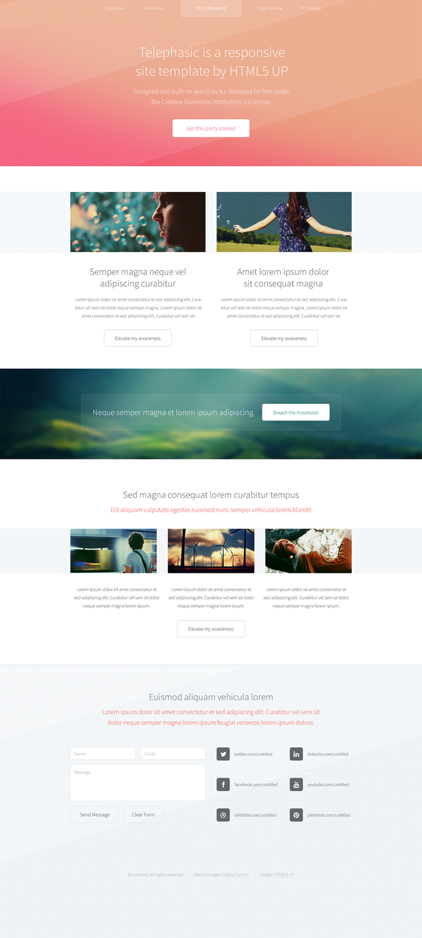 Telephasic (upcoming responsive template freebie) by nodethirtythree
