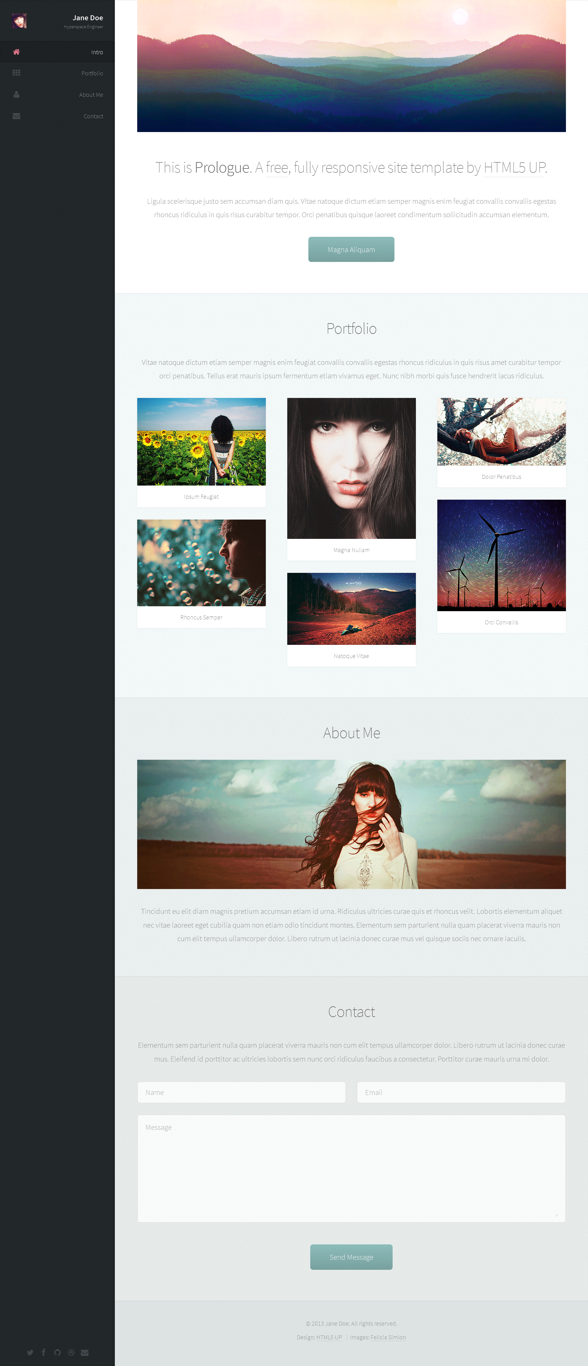 Prologue (responsive site template freebie) by nodethirtythree